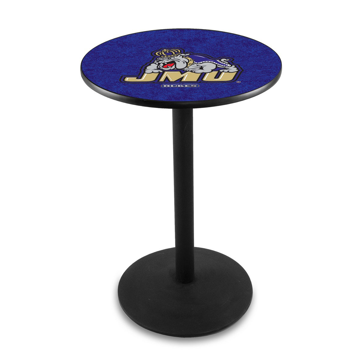 Pretty James Madison University Logo Pub Bar Table Round Stand Product Photo