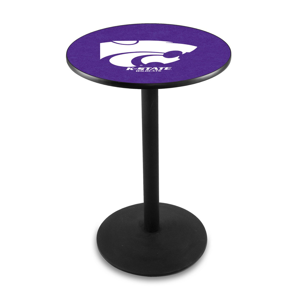 Longstanding Kansas State University Logo Pub Bar Table Round Stand Product Photo