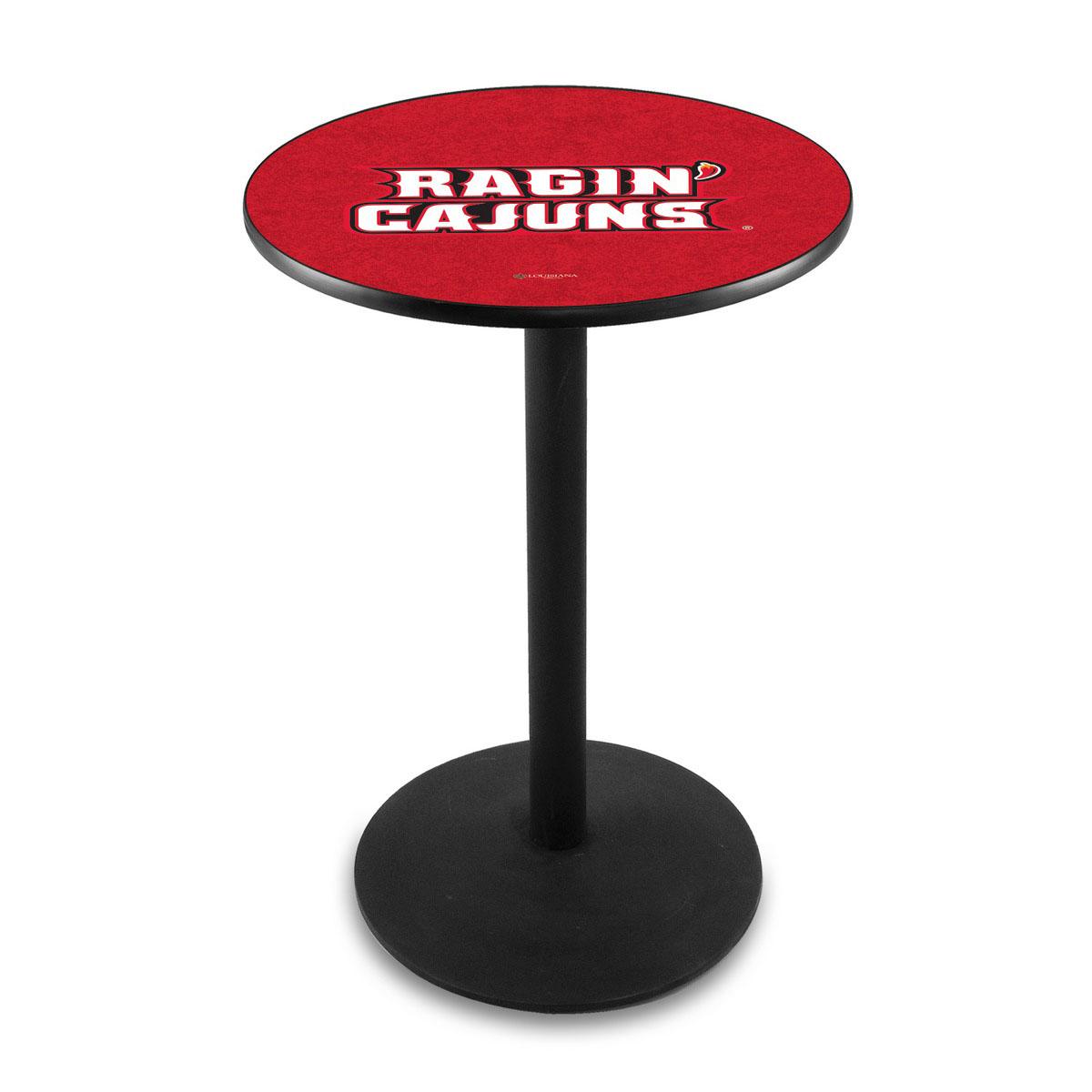 Impressive University Louisiana At Lafayette Logo Pub Bar Table Round Stand Product Photo