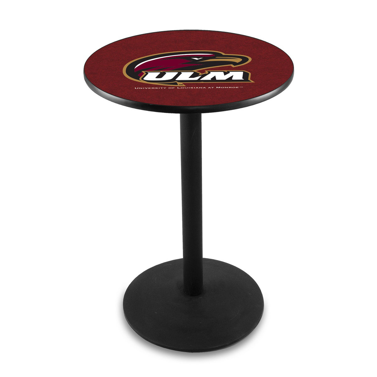 Money saving University Louisiana At Monroe Logo Pub Bar Table Round Stand Product Photo