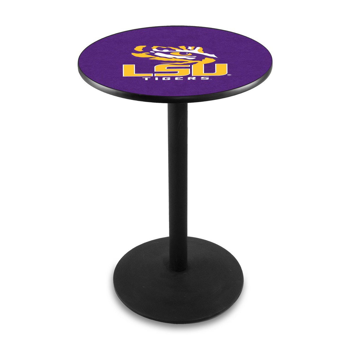 Select Louisiana State University Logo Pub Bar Table Round Stand Product Photo