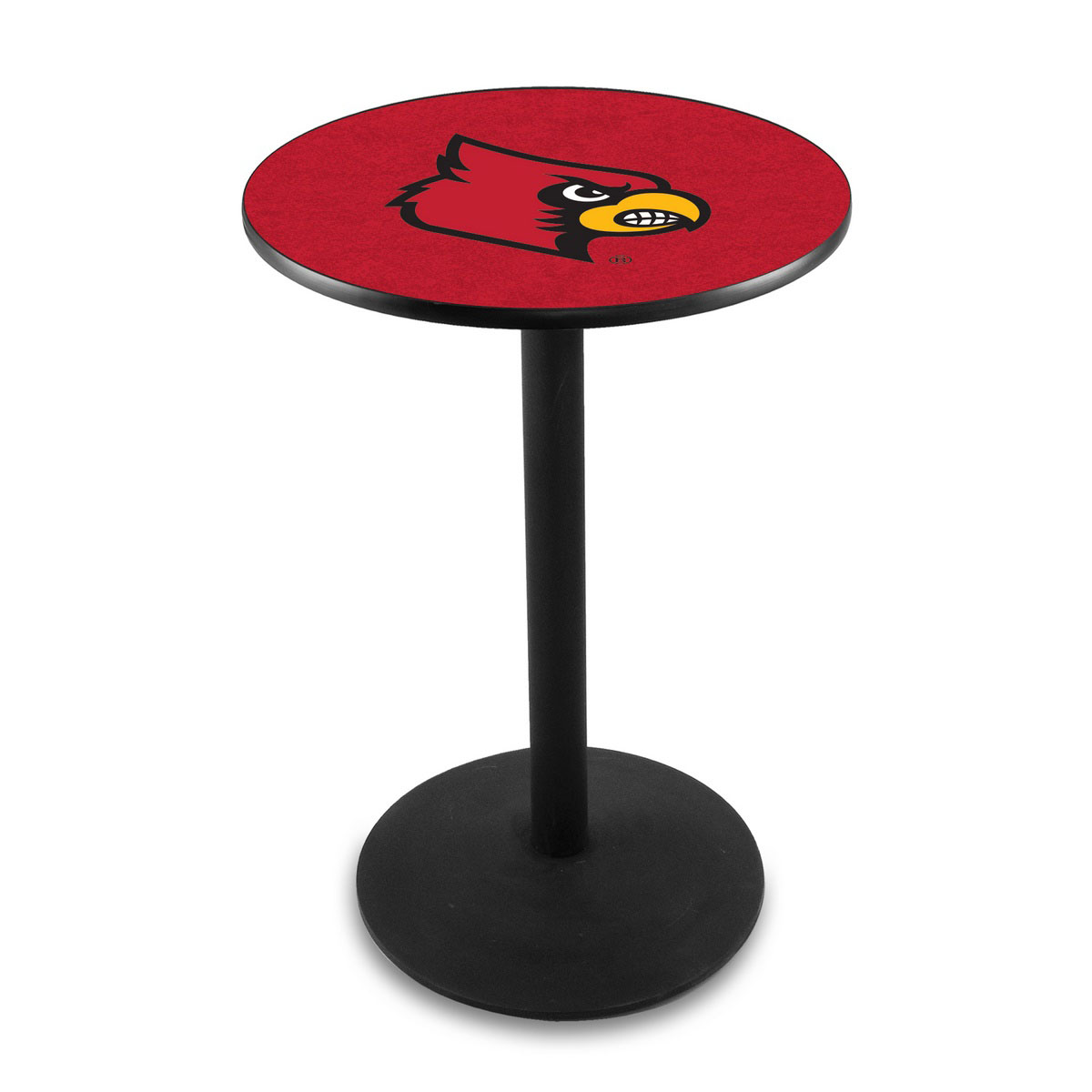 Design University Louisville Logo Pub Bar Table Round Stand Product Photo