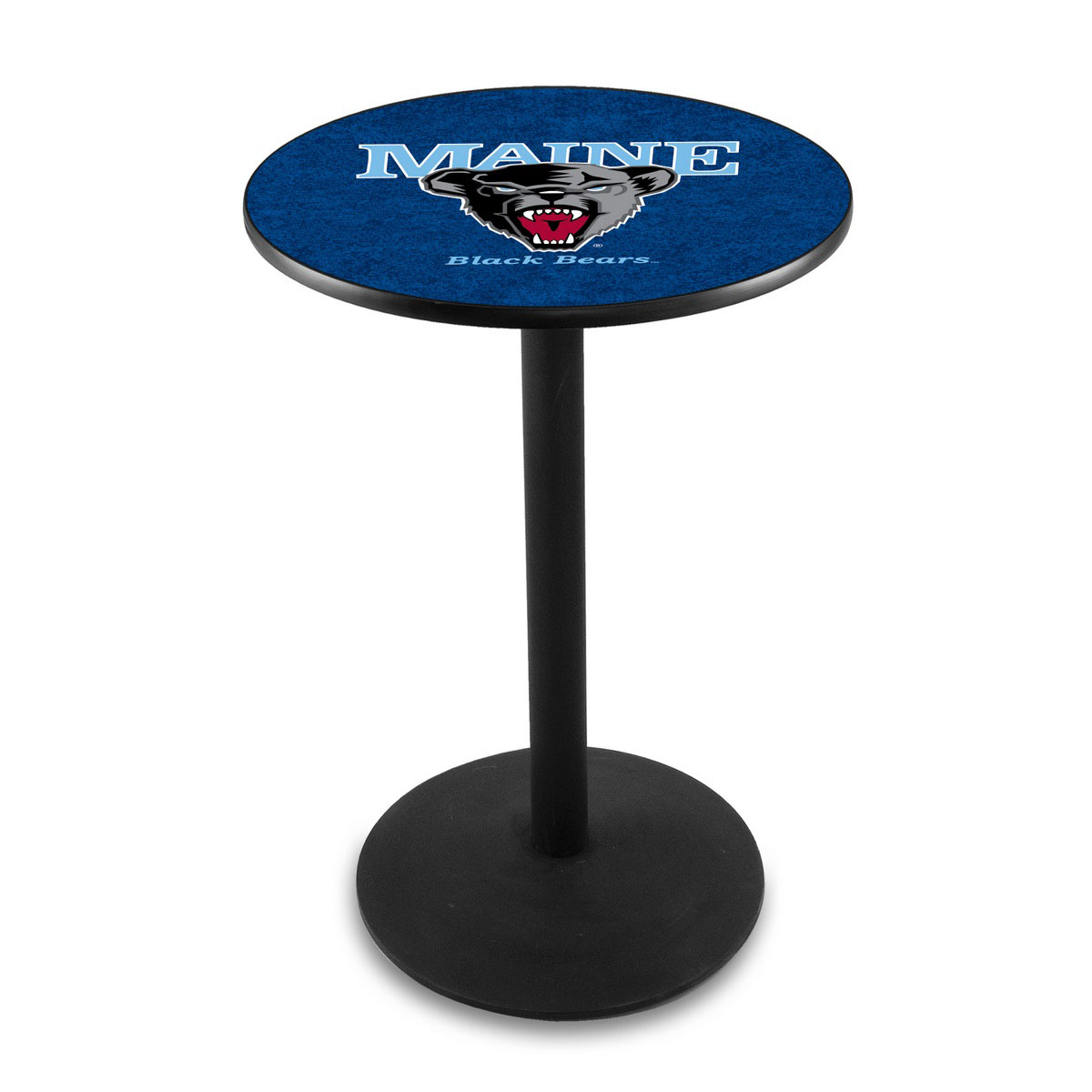 Remarkable University Maine Logo Pub Bar Table Round Stand Product Photo
