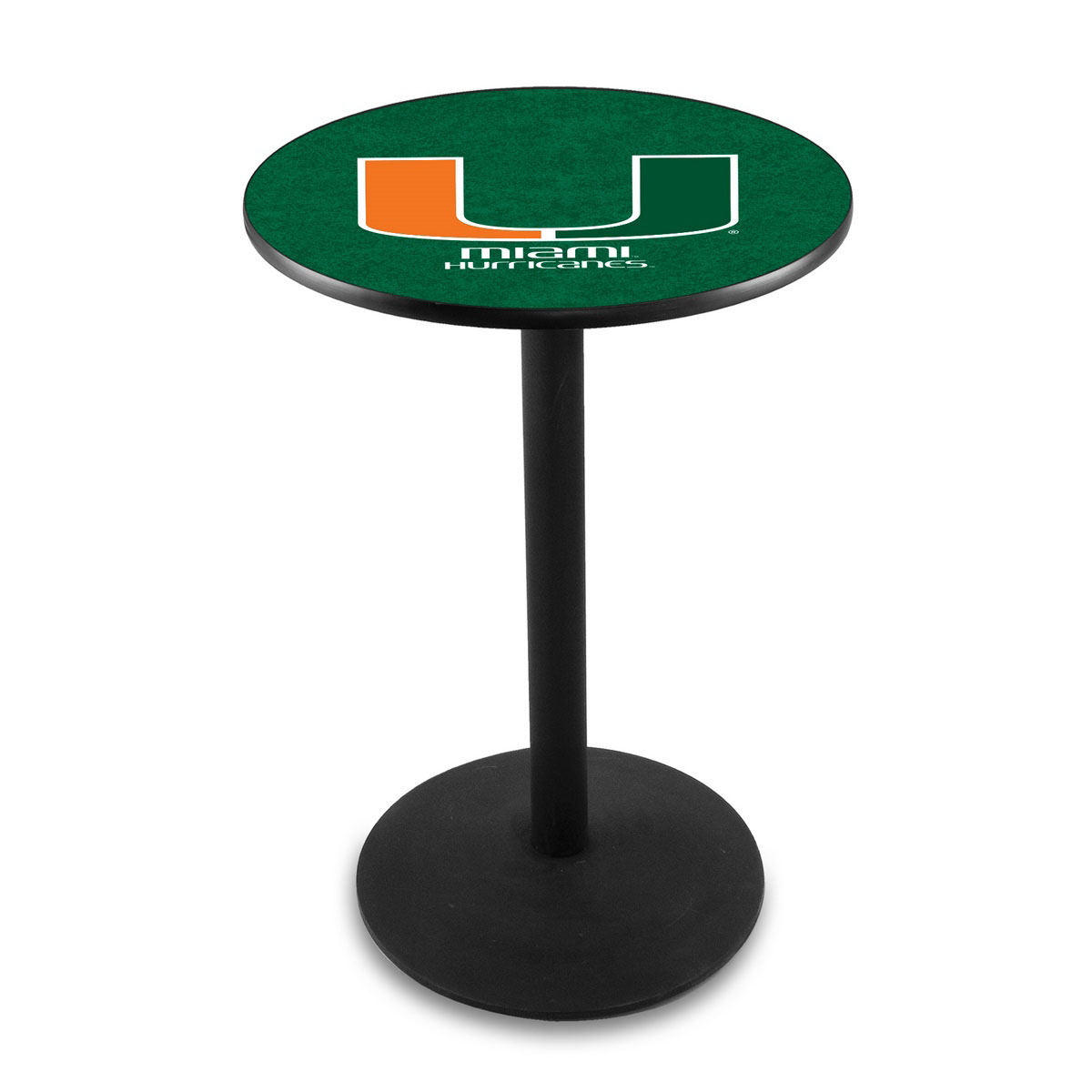 New University Miami Fl Logo Pub Bar Table Round Stand Product Photo