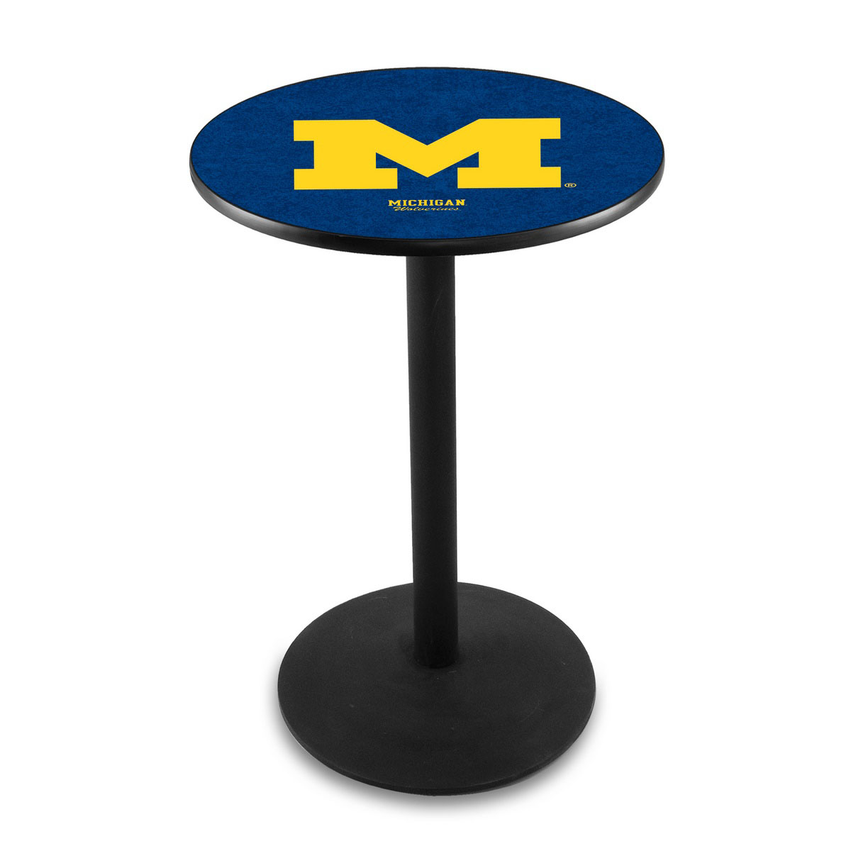 Outstanding University Michigan Logo Pub Bar Table Round Stand Product Photo