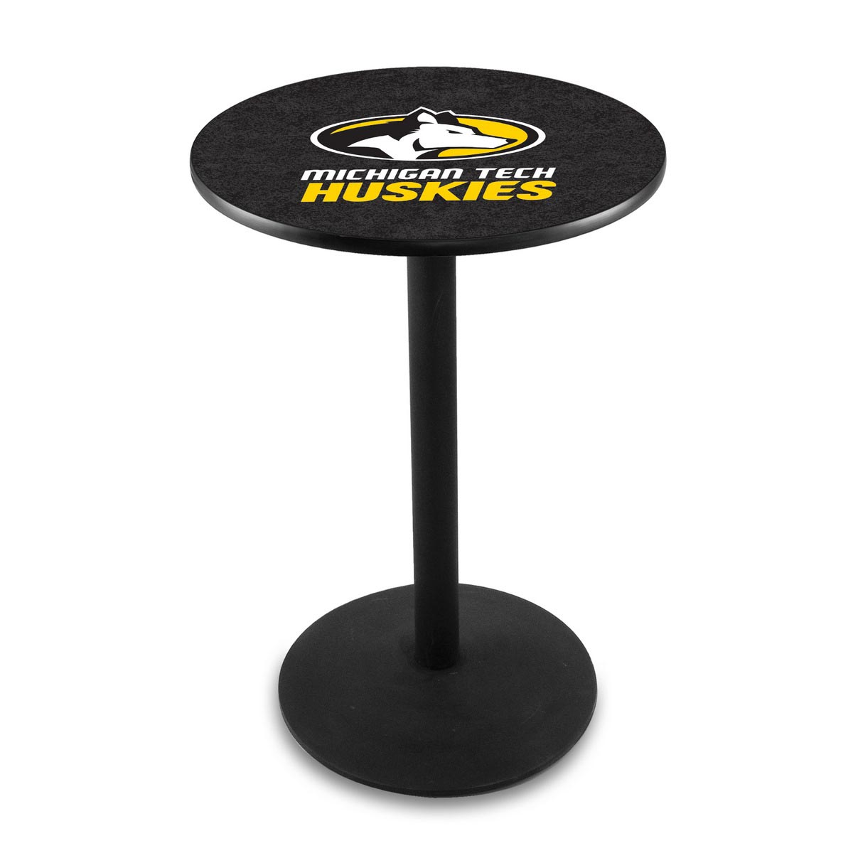 User friendly Michigan Tech University Logo Pub Bar Table Round Stand Product Photo