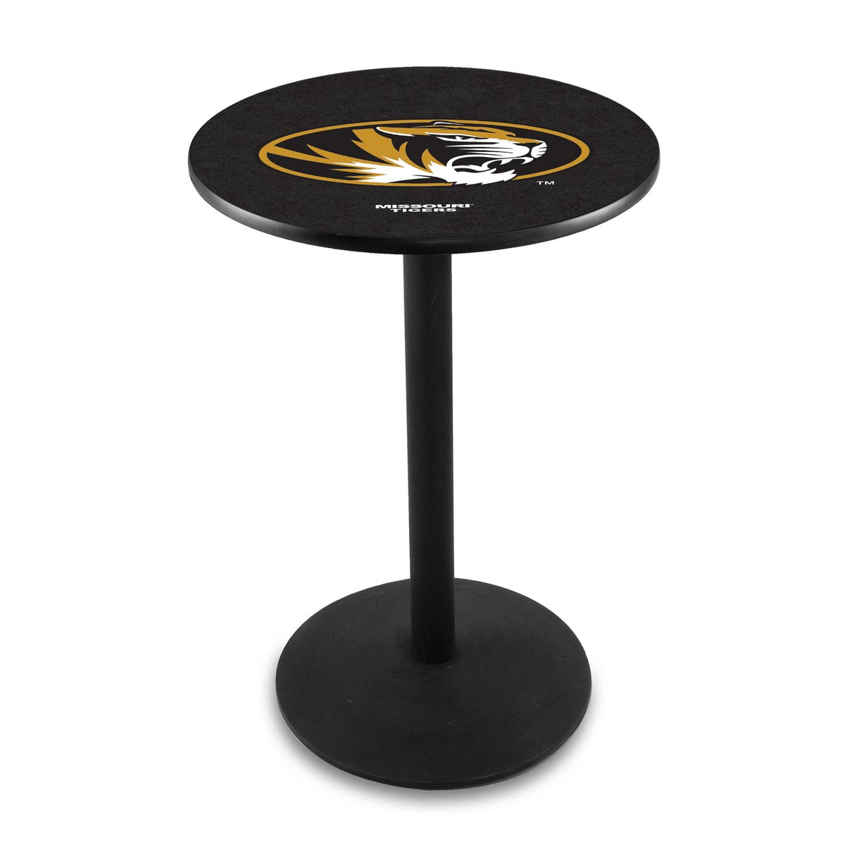 Precious University Missouri Logo Pub Bar Table Round Stand Product Photo