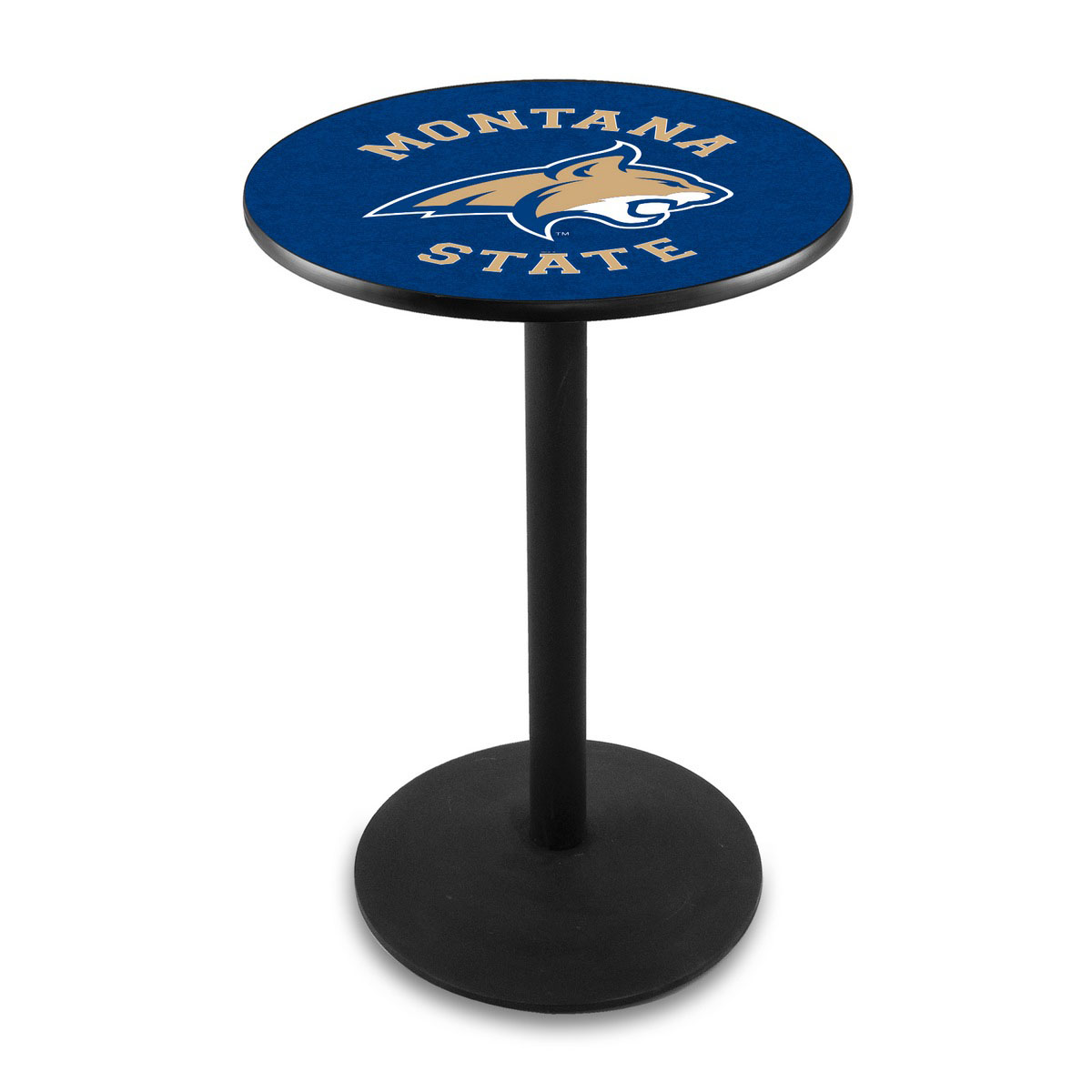 Learn more about Montana State University Logo Pub Bar Table Round Stand Product Photo