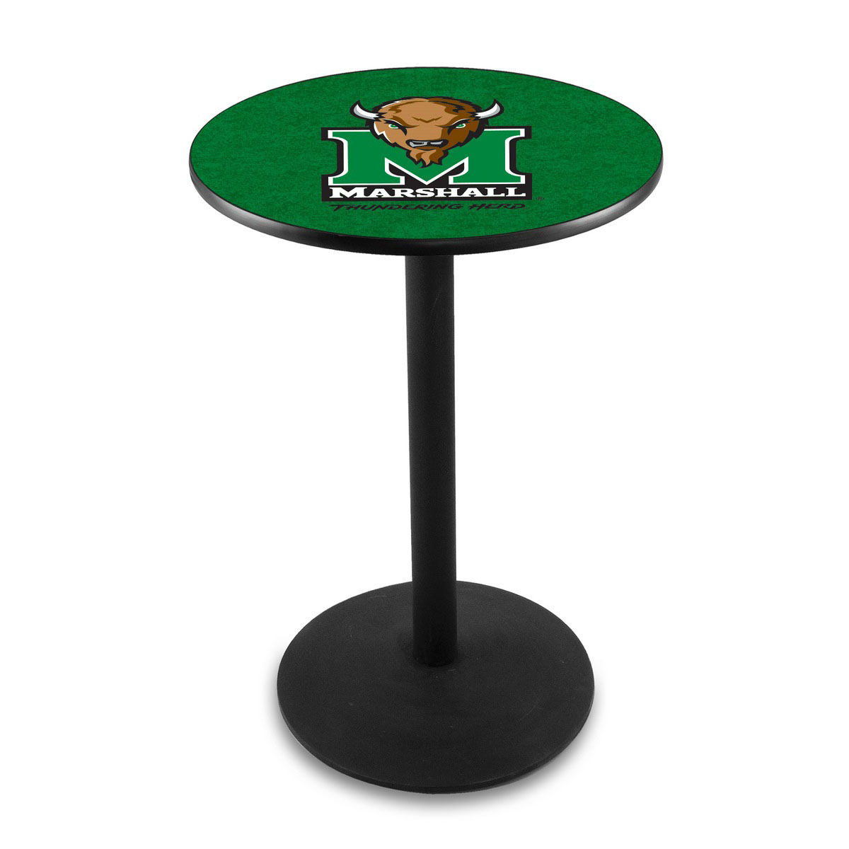 Order Marshall University Logo Pub Bar Table Round Stand Product Photo