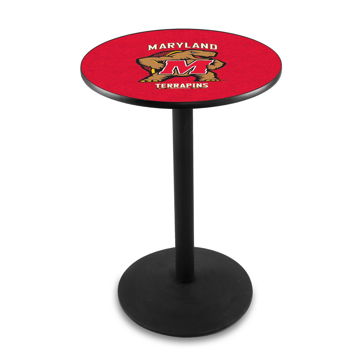 Reliable University Maryland Logo Pub Bar Table Round Stand Product Photo