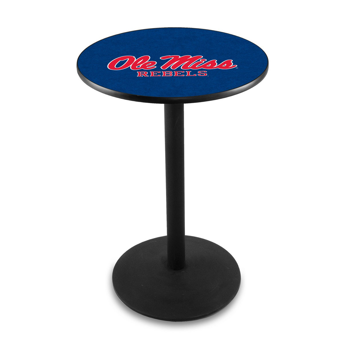 Excellent University Mississippi Logo Pub Bar Table Round Stand Product Photo