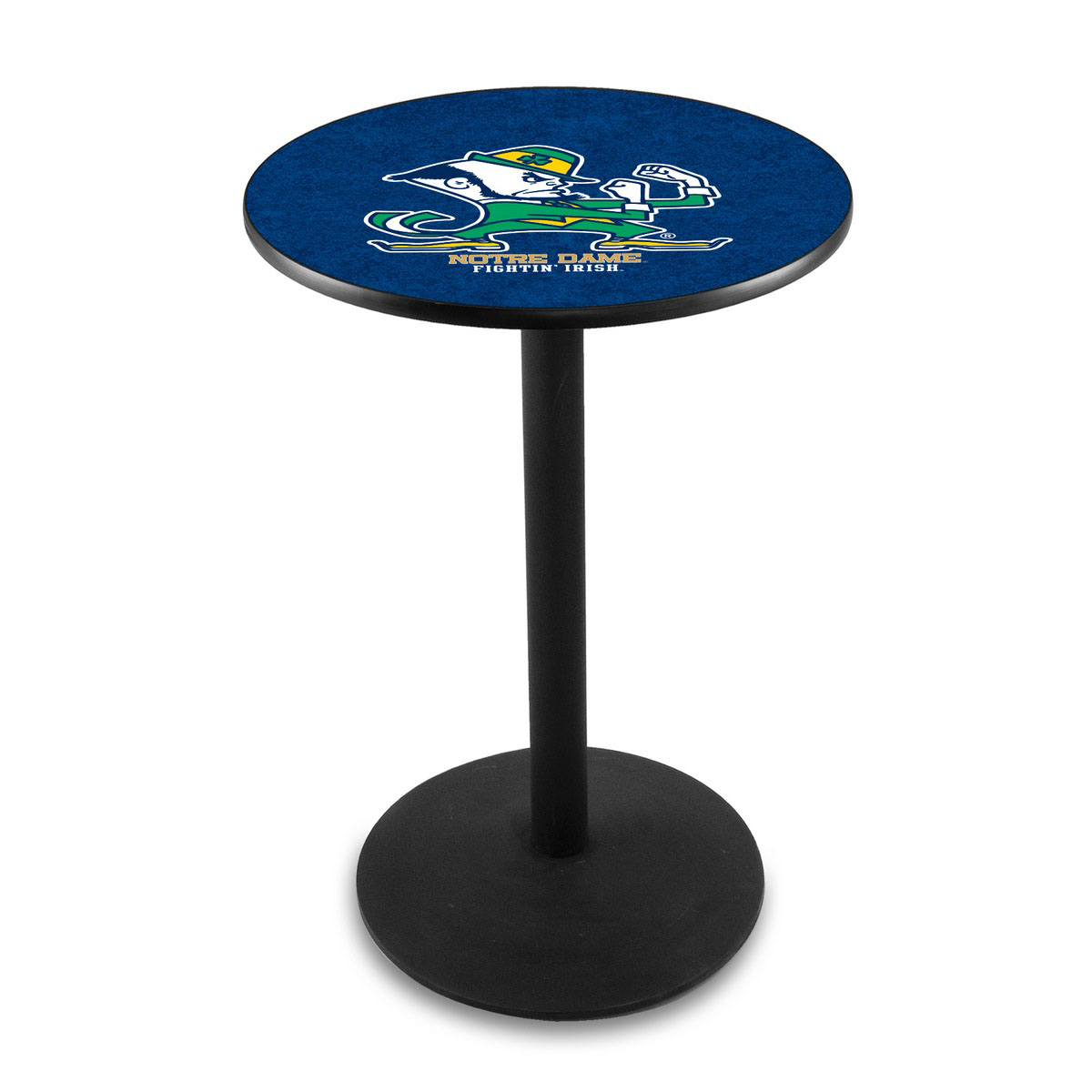 Special Notre Dame Leprechaun Logo Pub Bar Table Round Stand Product Photo
