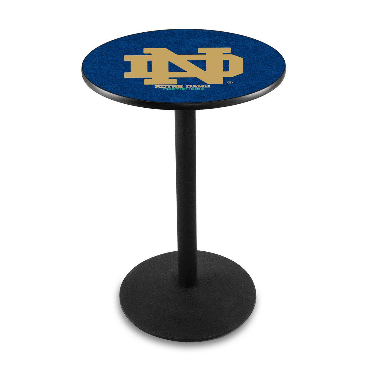 Superb Notre Dame Nd Logo Pub Bar Table Round Stand Product Photo