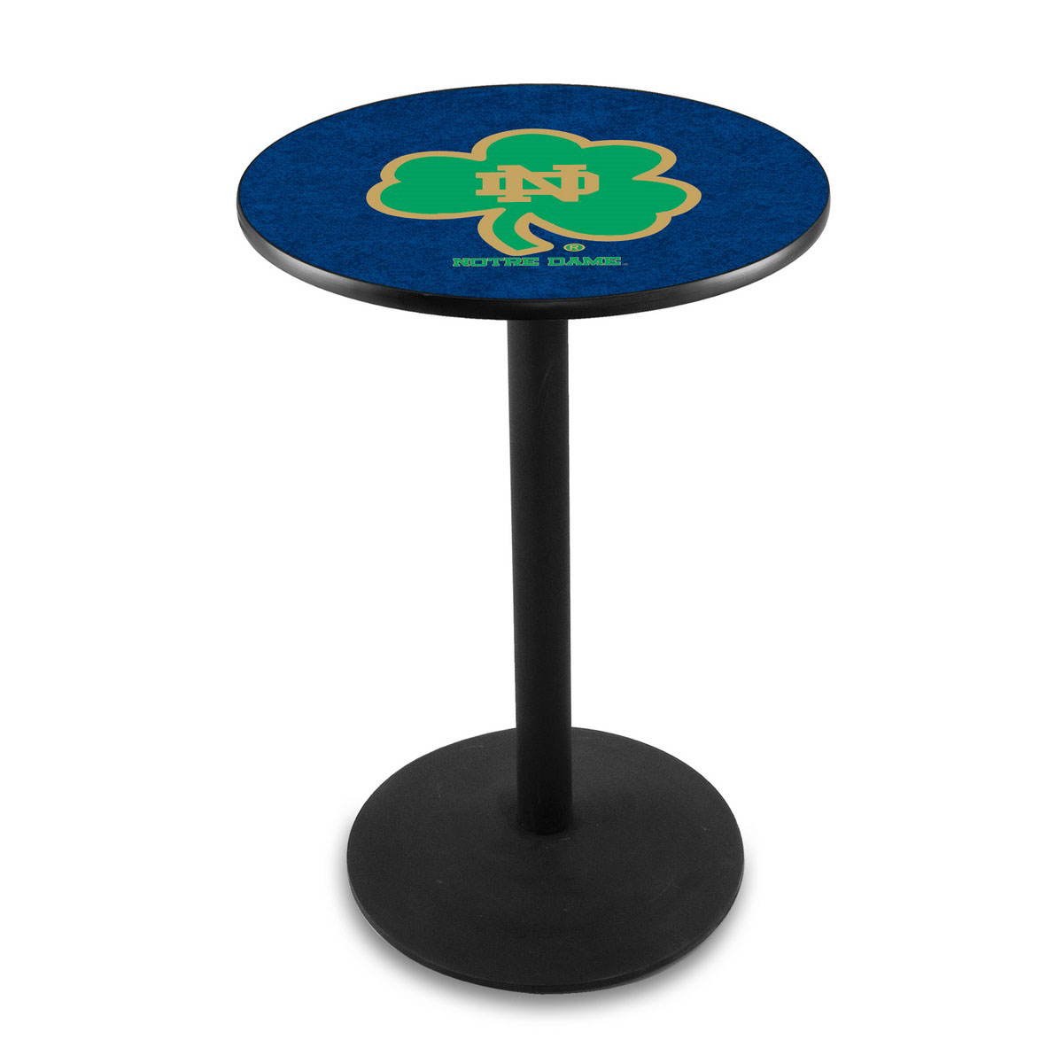 Superb-quality Notre Dame Shamrock Logo Pub Bar Table Round Stand Product Photo