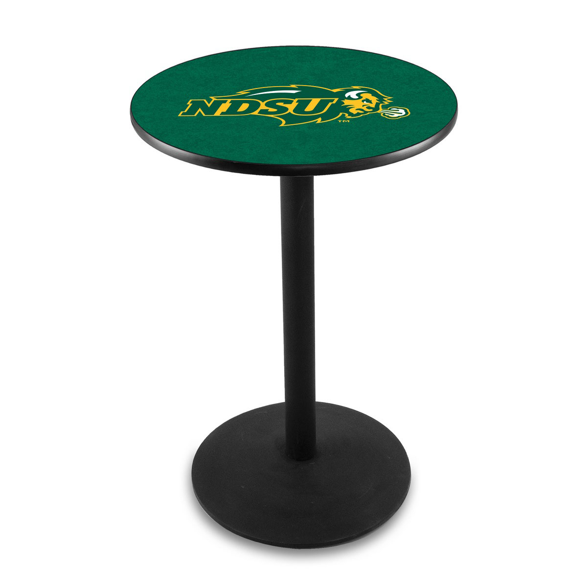Buy North Dakota State University Gold Logo Pub Bar Table Round Stand Product Photo