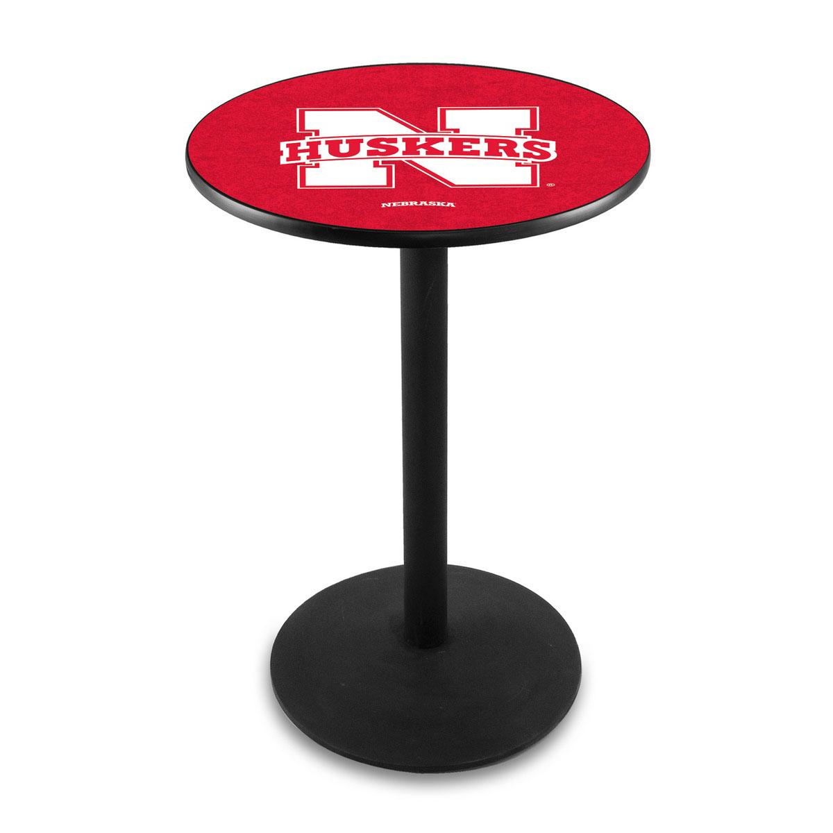 Popular University Nebraska Logo Pub Bar Table Round Stand Product Photo