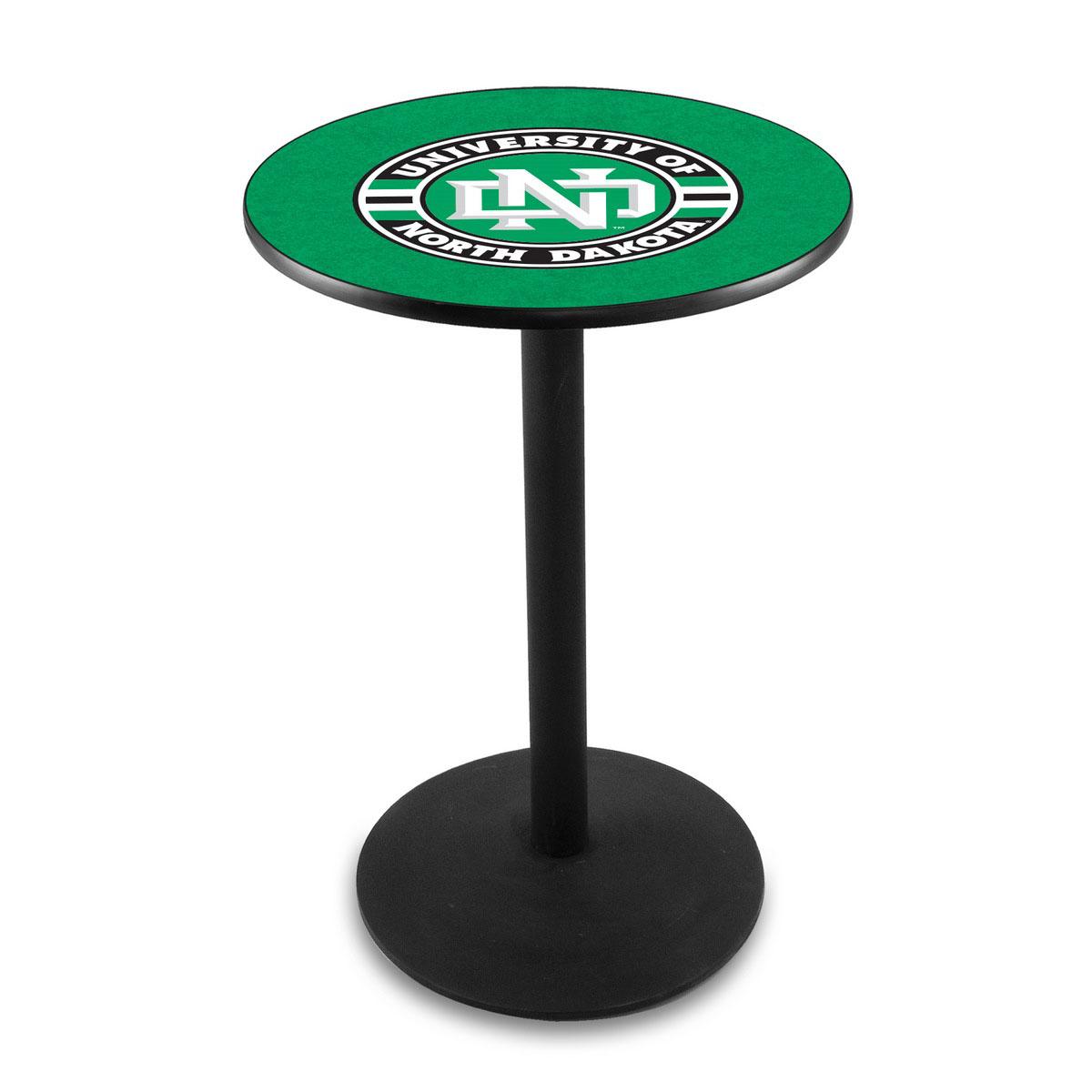 One of a kind University North Dakota Logo Pub Bar Table Round Stand Product Photo