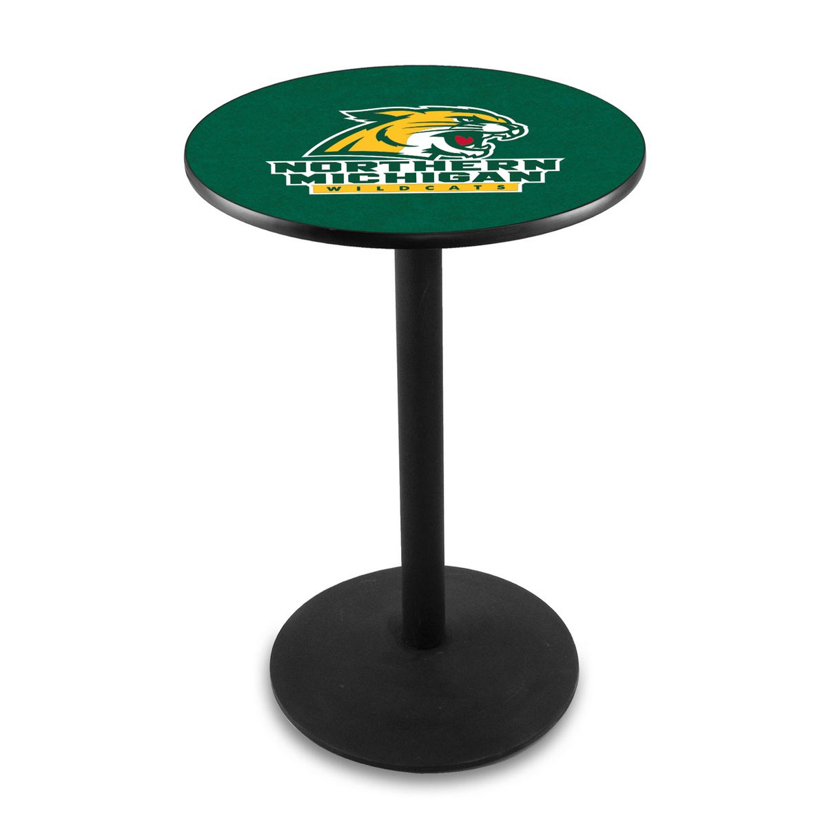 Affordable Northern Michigan University Logo Pub Bar Table Round Stand Product Photo