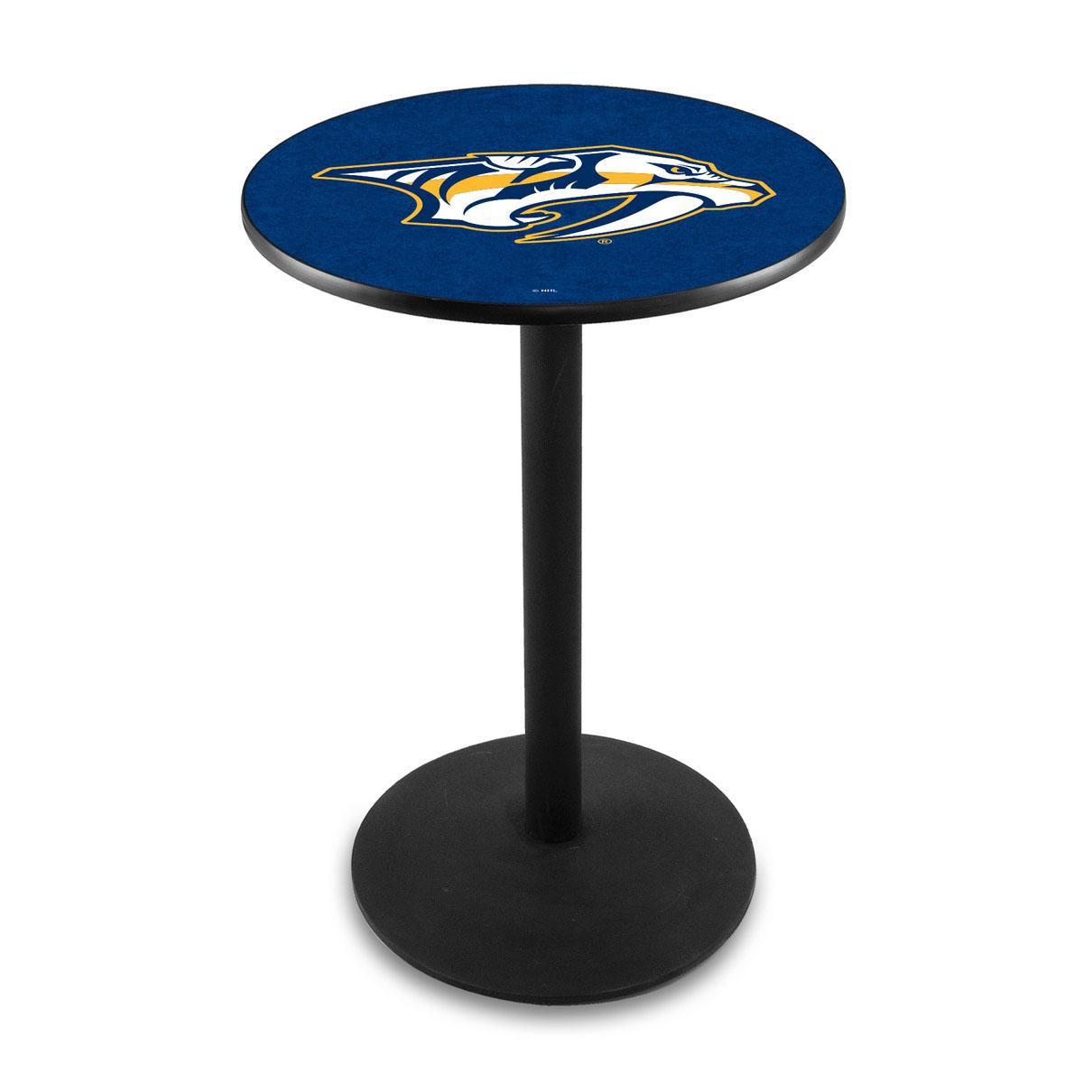 Stylish Nashville Predators Logo Pub Bar Table Round Stand Product Photo