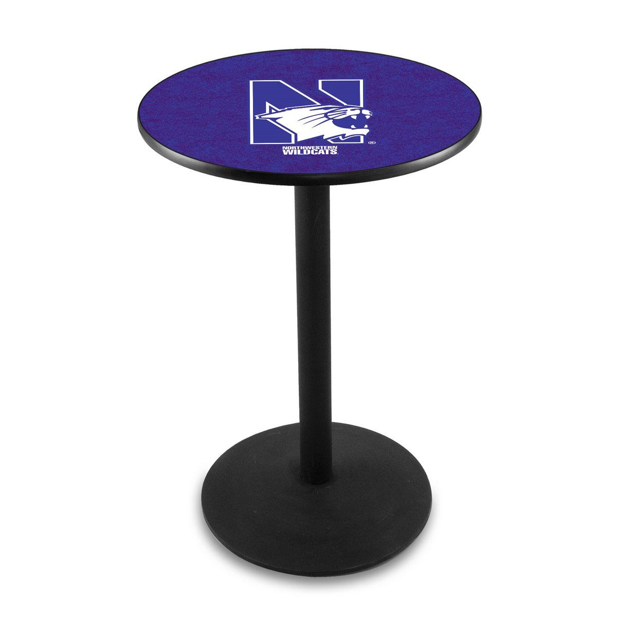 Lovable Northwestern University Logo Pub Bar Table Round Stand Product Photo