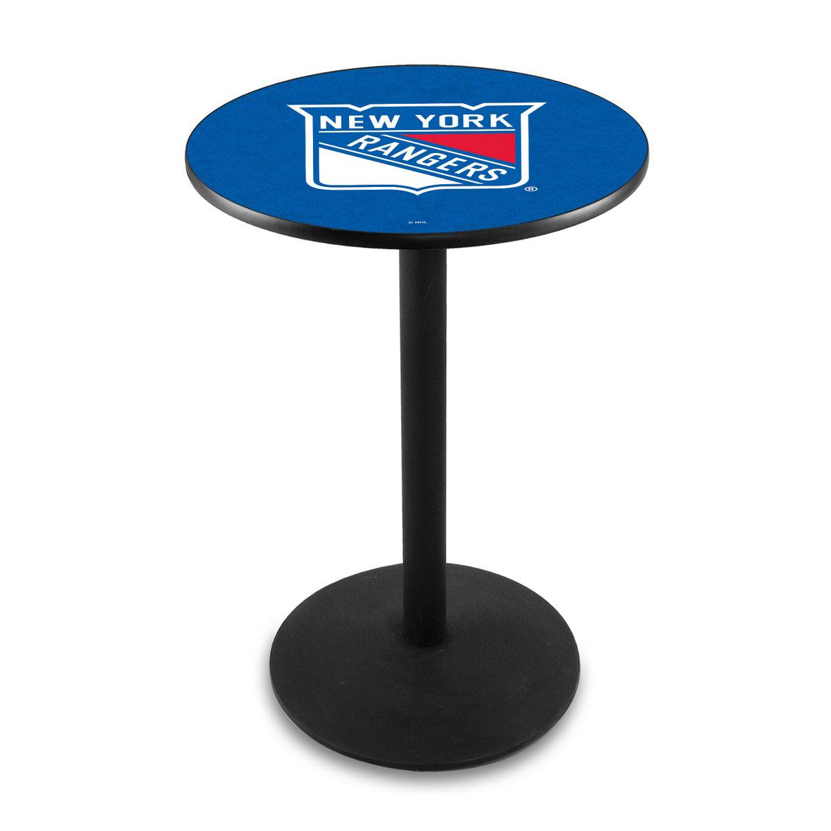 Tasteful New York Rangers Logo Pub Bar Table Round Stand 26 1731