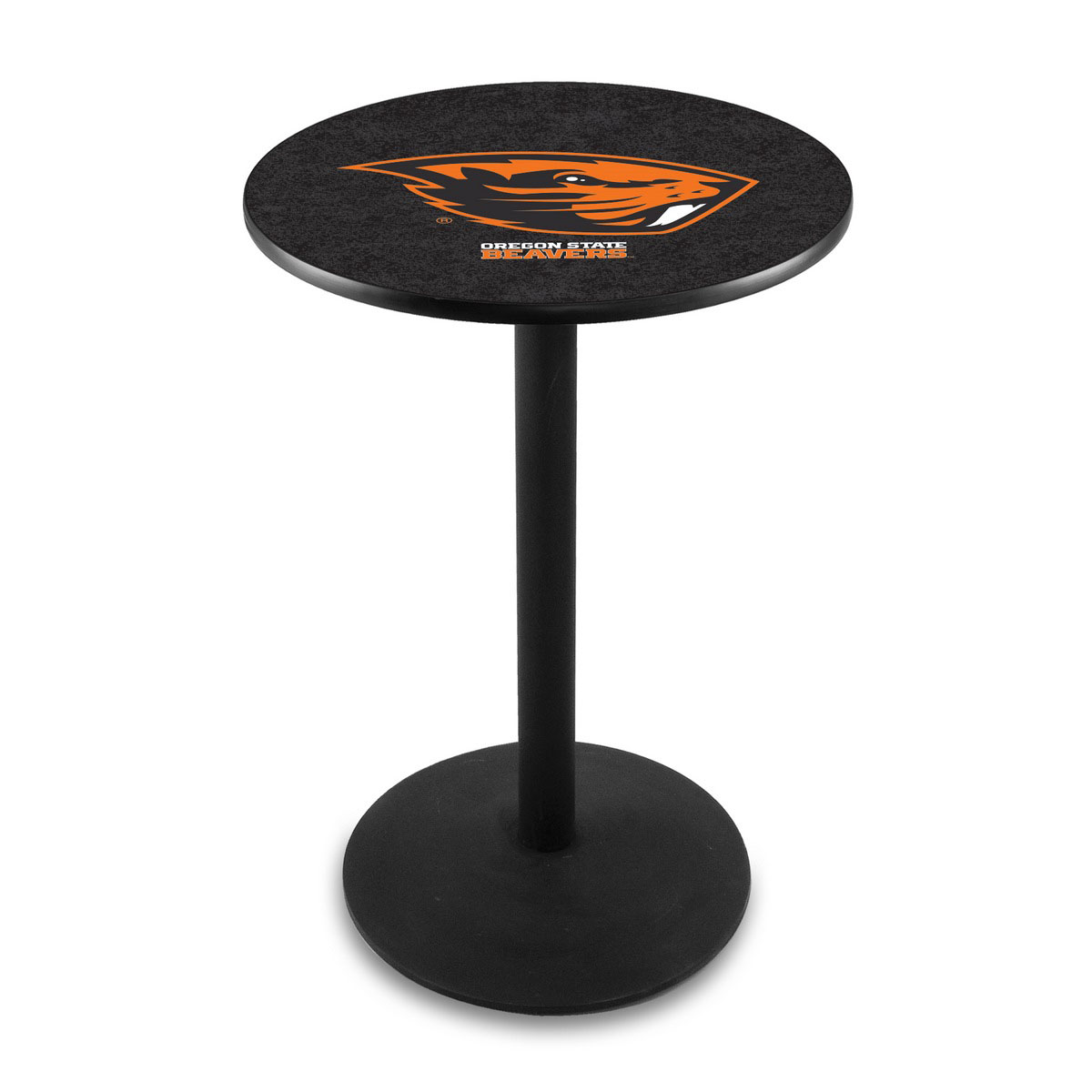 Remarkable Oregon State University Logo Pub Bar Table Round Stand Product Photo