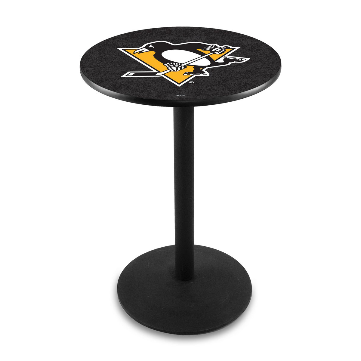Outstanding Pittsburgh Penguins Logo Pub Bar Table Round Stand Product Photo