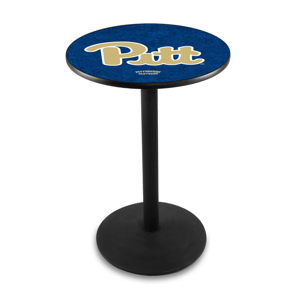 Beautiful University Pittsburgh Logo Pub Bar Table Round Stand Product Photo
