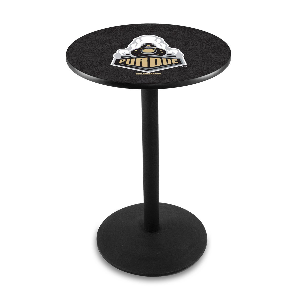 Excellent Purdue Logo Pub Bar Table Round Stand Product Photo