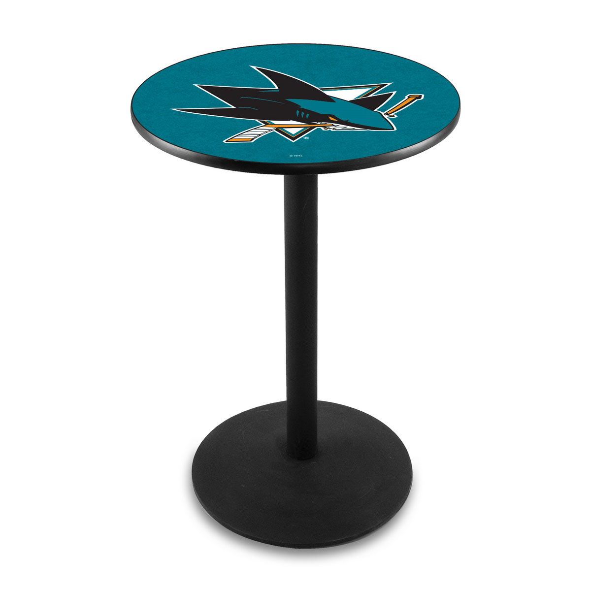 Valuable San Jose Sharks Logo Pub Bar Table Round Stand Product Photo