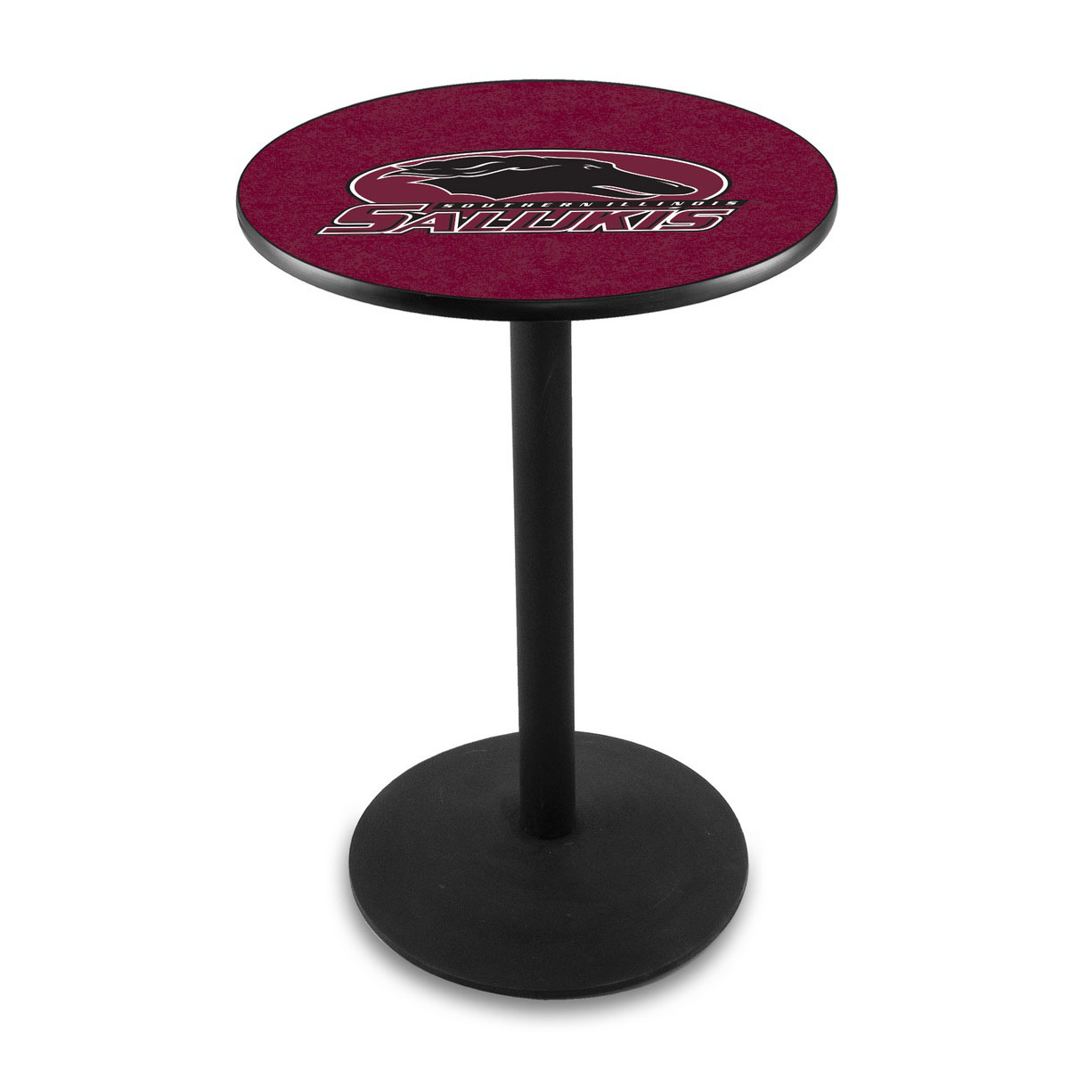 Best-selling Southern Illinois University Logo Pub Bar Table Round Stand Product Photo