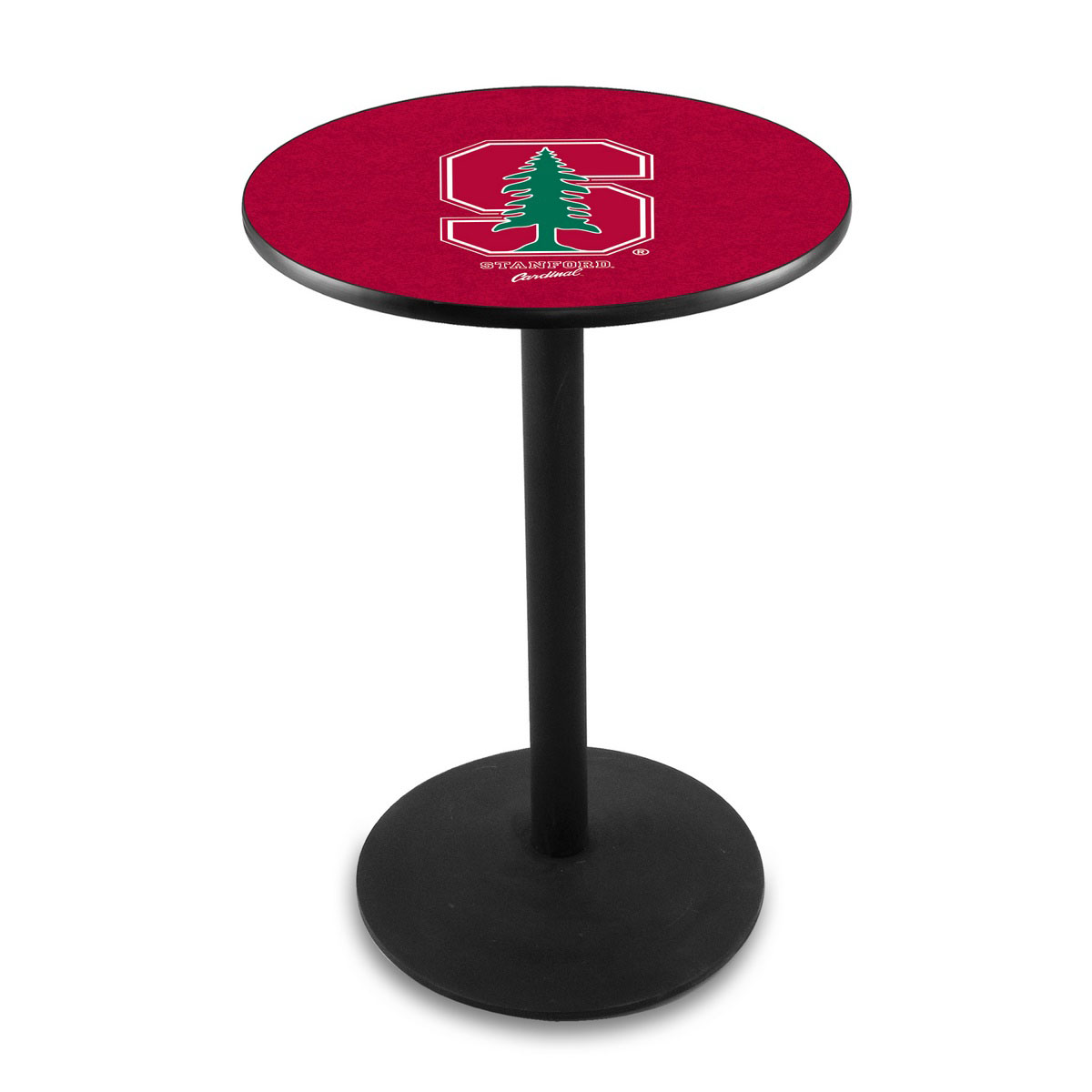 Check out the Stanford University Logo Pub Bar Table Round Stand Product Photo
