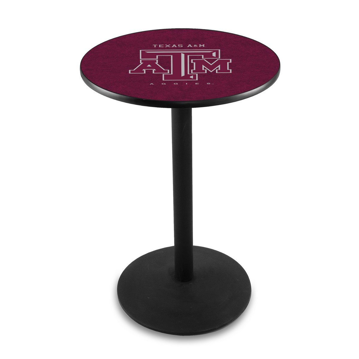 Splendid Texas A Logo Pub Bar Table Round Stand Product Photo
