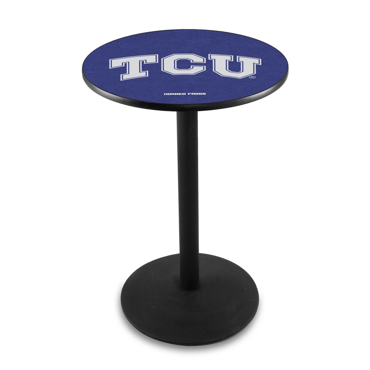 Magnificent Tcu Logo Pub Bar Table Round Stand Product Photo