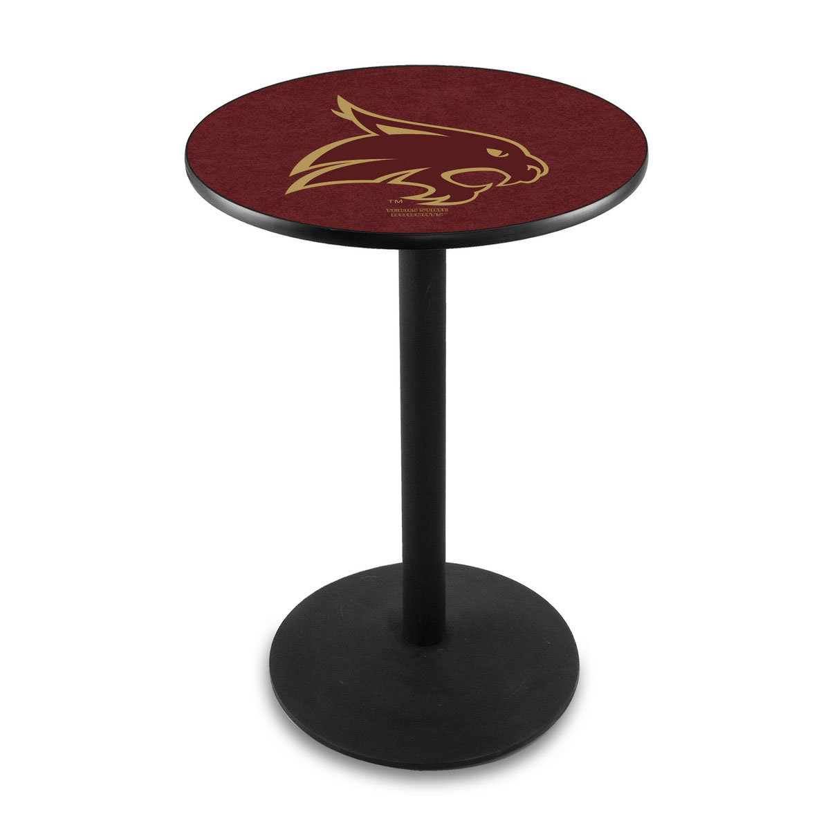 Beautiful Texas State University Logo Pub Bar Table Round Stand Product Photo