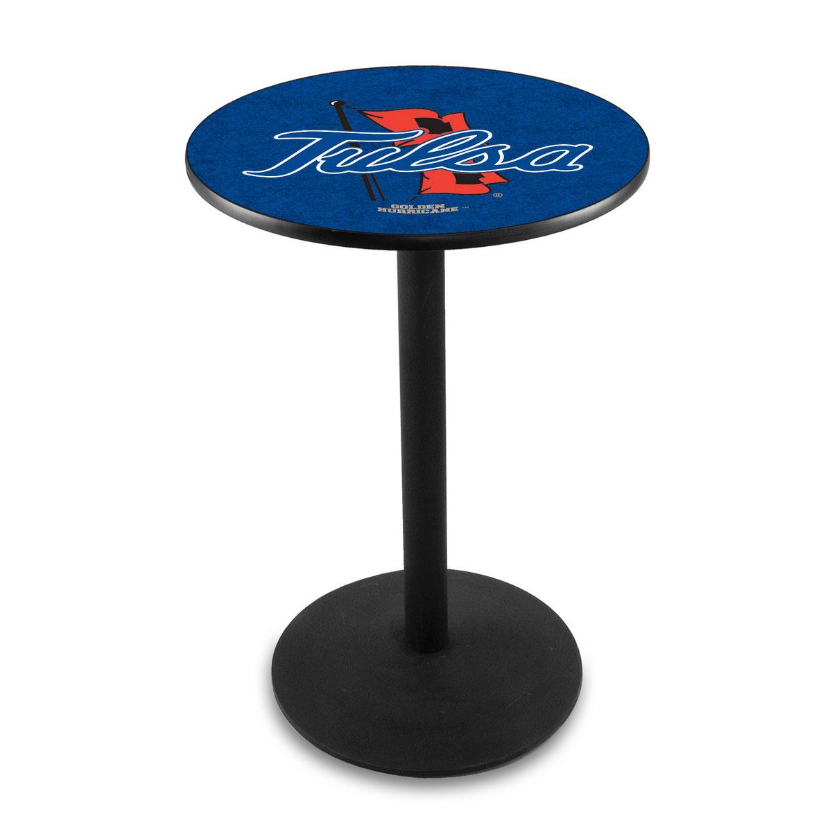 Buy University Tulsa Logo Pub Bar Table Round Stand Product Photo