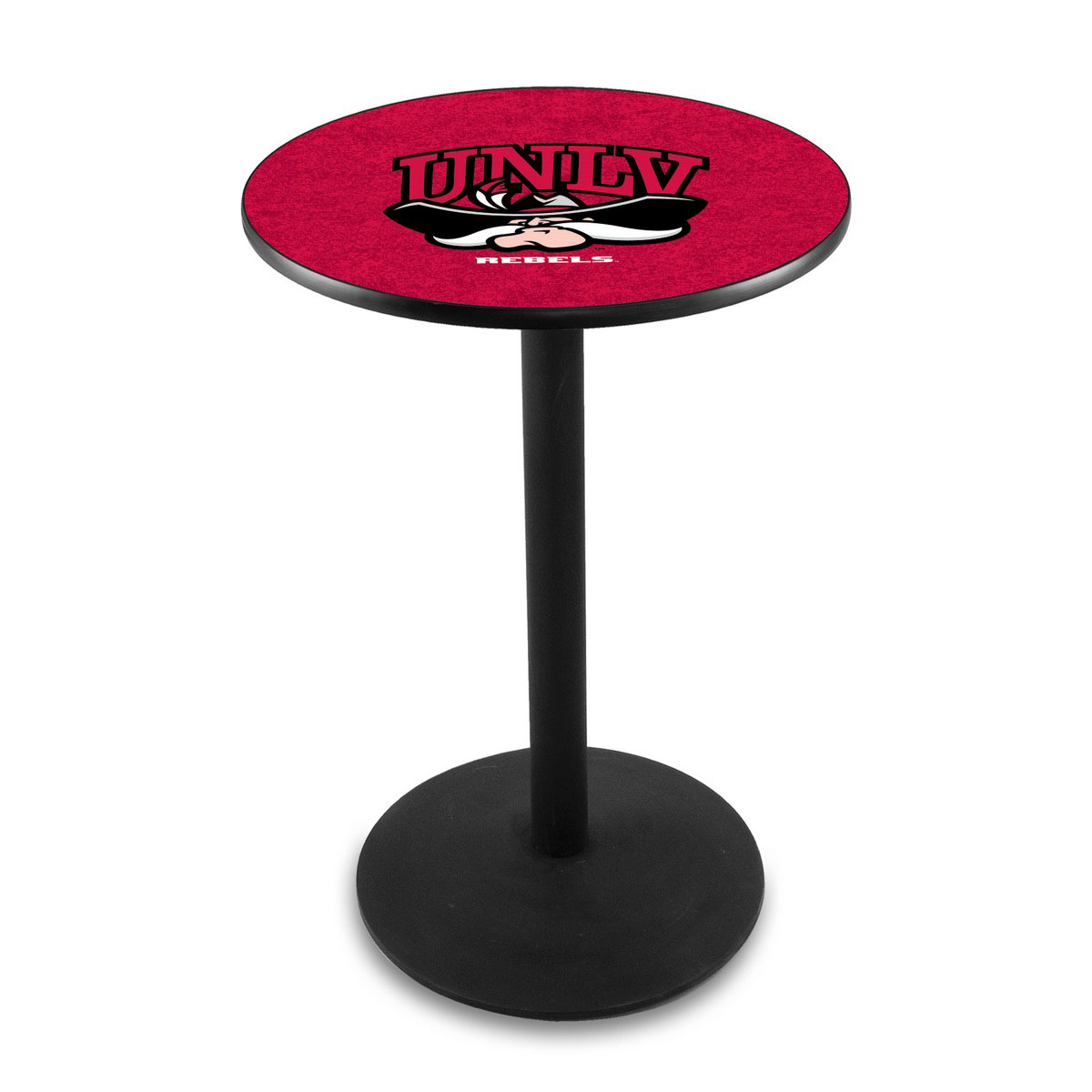 View University Nevada Las Vegas Logo Pub Bar Table Round Stand Product Photo