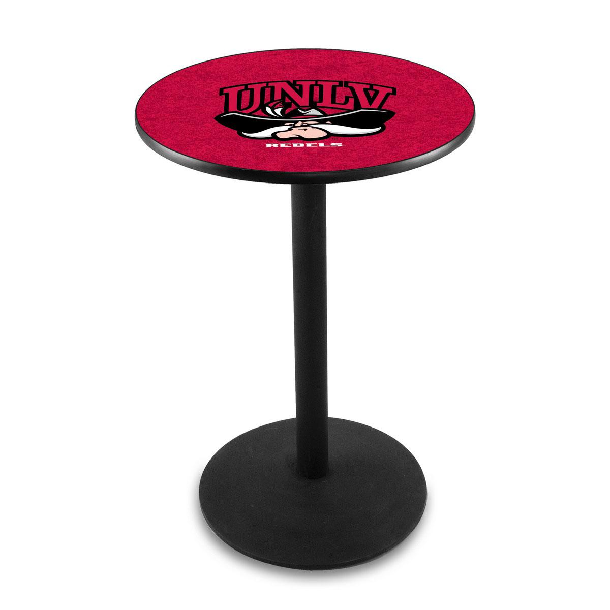 View University Nevada Las Vegas Logo Pub Bar Table Round Stand Product Photo