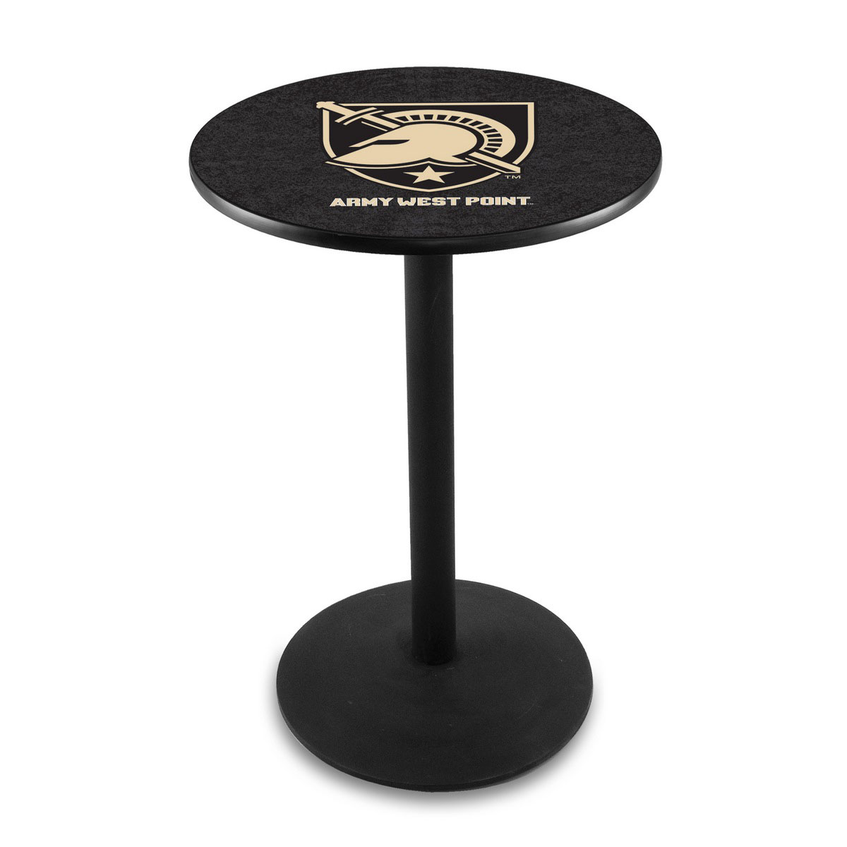 Unique Us Military Academy Logo Pub Bar Table Round Stand Product Photo