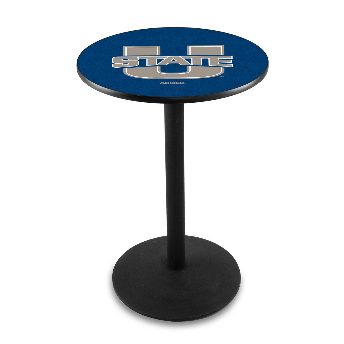 Learn more about Utah State University Logo Pub Bar Table Round Stand Product Photo