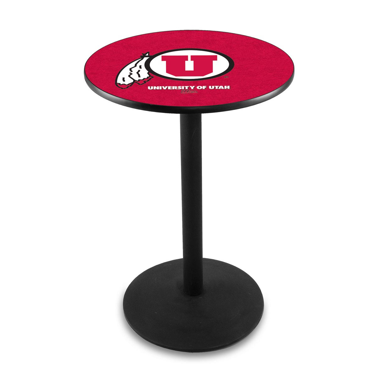 Select University Utah Logo Pub Bar Table Round Stand Product Photo
