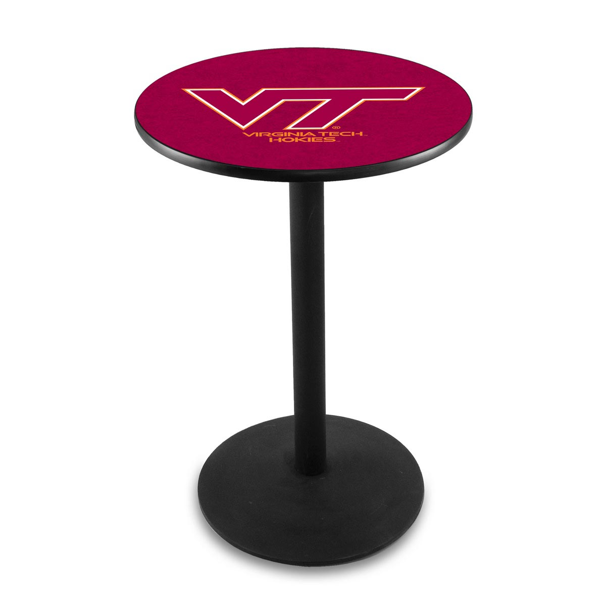 Exquisite Virginia Tech University Logo Pub Bar Table Round Stand Product Photo