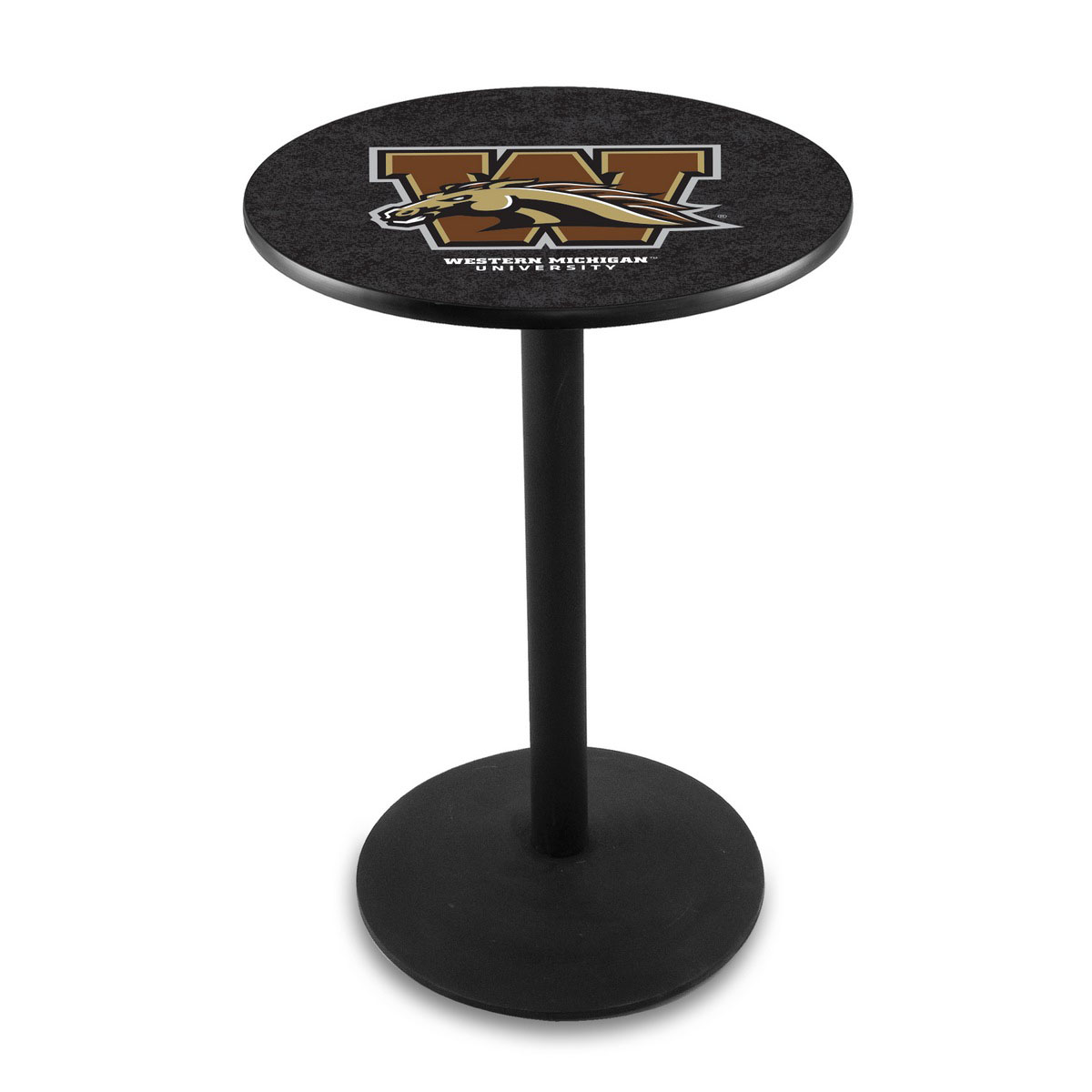 Serious Western Michigan University Logo Pub Bar Table Round Stand Product Photo