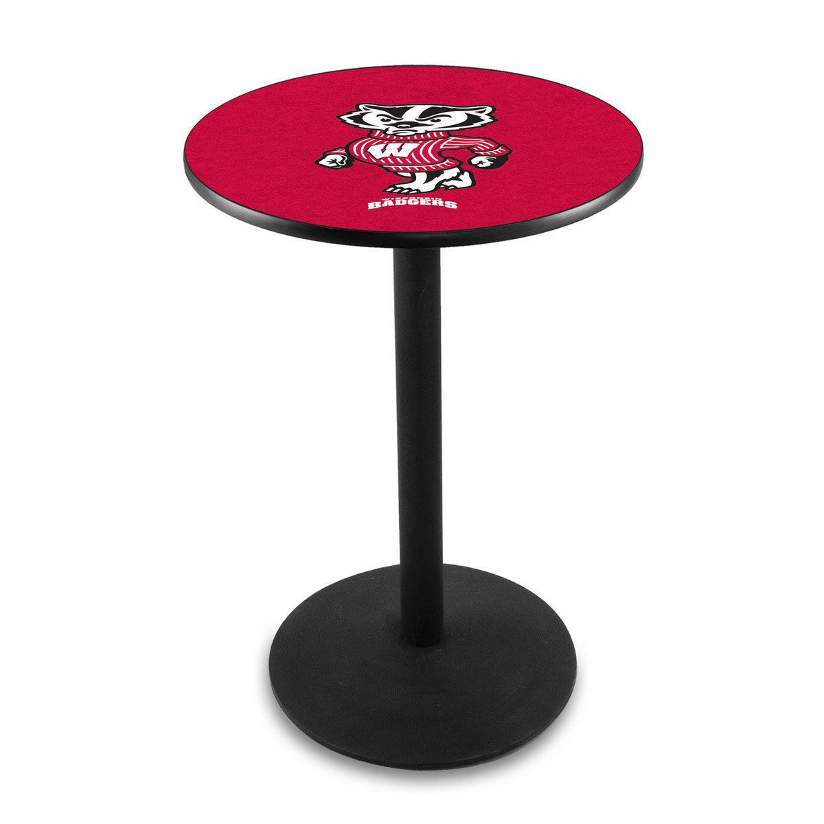 Information about University Wisconsin Badger Logo Pub Bar Table Round Stand Product Photo