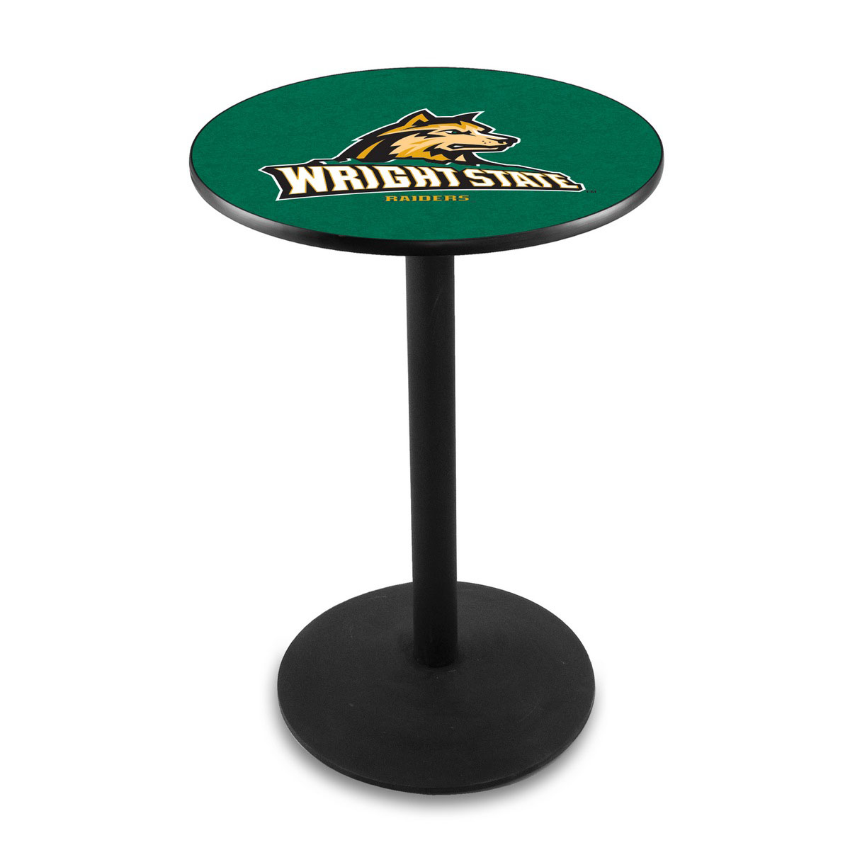 Design Wright State University Logo Pub Bar Table Round Stand Product Photo