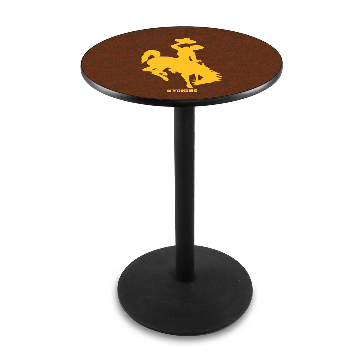 User friendly University Wyoming Logo Pub Bar Table Round Stand Product Photo