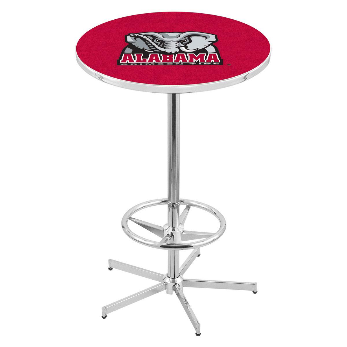 Select Chrome Alabama Pub Table Product Photo