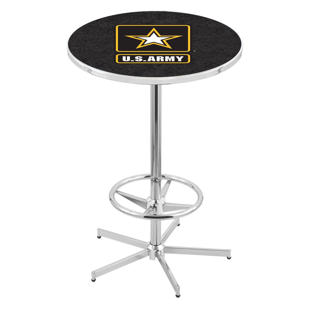 Wonderful Chrome U Army Pub Table Product Photo
