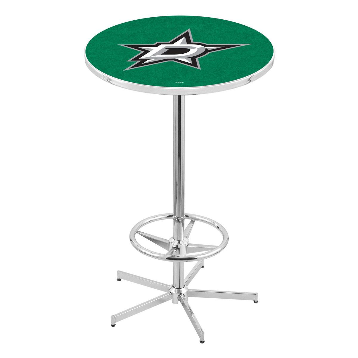 Impressive Chrome Dallas Stars Pub Table Product Photo