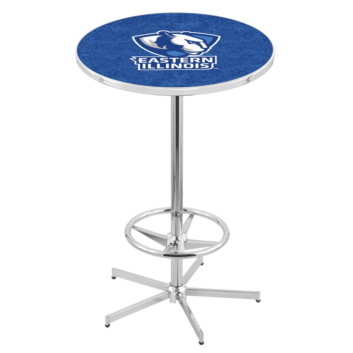 Trustworthy Chrome Eastern Illinois Pub Table Product Photo